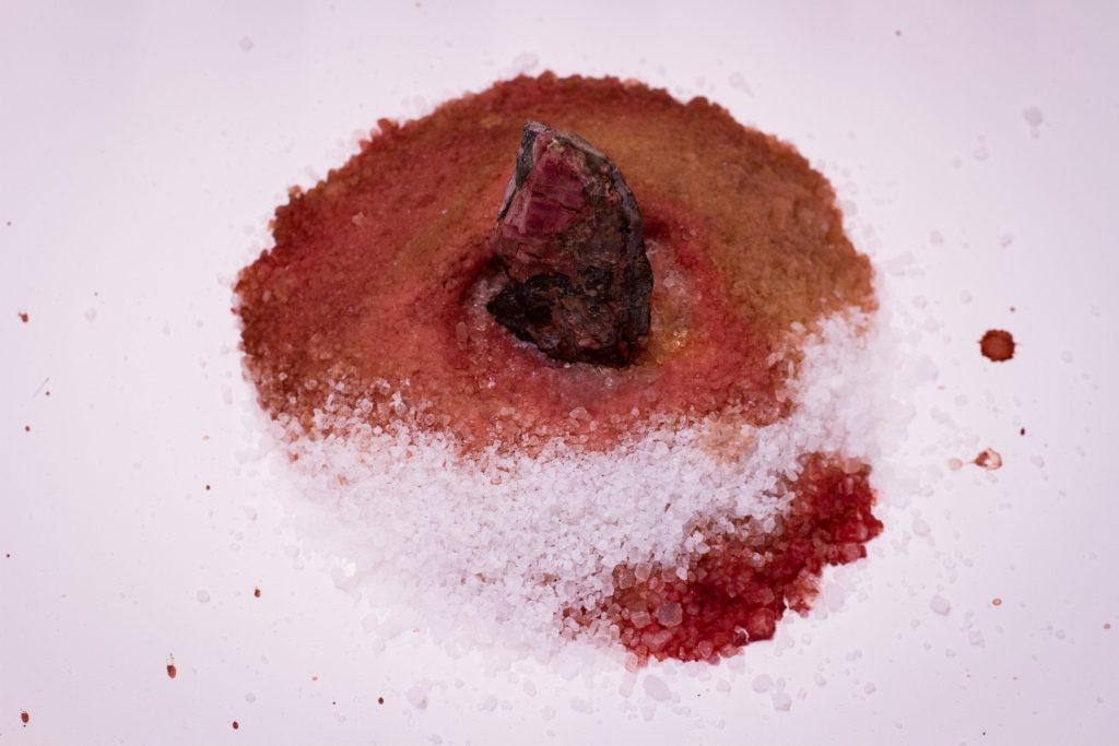 AUPABA, photography (record of residue from performance), 2015.